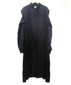 CDG COMME des GARCONS(シーディージーコムデギャルソン)の古着「肩割れキュプラスタッフコート」 ブラック