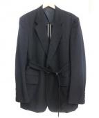 Y's(ワイズ)の古着「ベルト付きテーラードジャケット」|ブラック