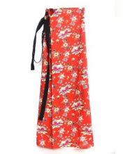 TAKESHI KOSAKA by Ys Pink Label(タケシ コウサカ バイ ワイズ ピンクレーベル)の古着「総柄変形ドレス」|レッド