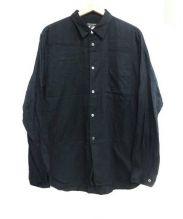 COMME des GARCONS HommePlus(コムデギャルソンオムプリュス)の古着「シャドーペイズリーシャツ」|ブラック