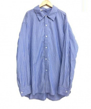 UNUSED(アンユーズド)の古着「Stripe shirt」|ブルー