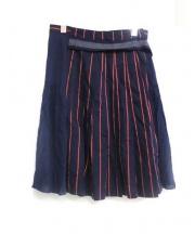 Sue UNDER COVER(スーアンダーカバー)の古着「巻きスカート」|ネイビー