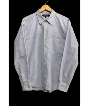 COMME des GARCONS HOMME DEUX(コムデギャルソンオムデュー)の古着「ストライプシャツ」 スカイブルー