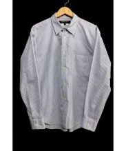 COMME des GARCONS HOMME DEUX(コムデギャルソンオムデュー)の古着「ストライプシャツ」|スカイブルー