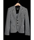 JUNYA WATANABE CDG(ジュンヤワタナベ コムデギャルソン)の古着「総柄ジャケット」|ホワイト×ブラック
