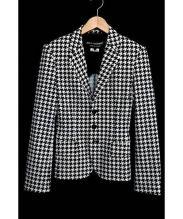 JUNYA WATANABE CDG(ジュンヤワタナベ コムデギャルソン)の古着「総柄ジャケット」 ホワイト×ブラック