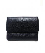 CHANEL(シャネル)の古着「3つ折り財布」|ブラック