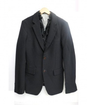 COMME des GARCONS HommePlus(コムデギャルソンオムプリュス)の古着「デザインジャケット」|ブラック