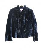 JUNYA WATANABE CDG(ジュンヤワタナベ コムデギャルソンマン)の古着「ベロアジャケット」 ネイビー