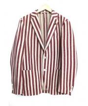 LARDINI(ラルディーニ)の古着「シングルジャケット」 レッド