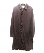 UNDER COVER(アンダーカバー)の古着「フリルウールコート」 ブラウン