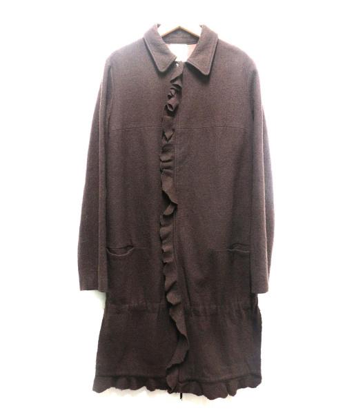 UNDER COVER(アンダーカーバー)UNDER COVER (アンダーカバー) フリルウールコート ブラウン サイズ:M 2002年 魔女期 WITCH'S CELL DIVISIONの古着・服飾アイテム