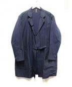 ms basque(エムエスバスク)の古着「コットンポリタイロッケンコート」|ブラック