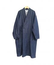 HYKE(ハイク)の古着「デニムガウンコート」|インディゴ