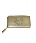 GUCCI(グッチ)の古着「ソーホーラウンドファスナー」|ゴールド