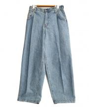 NEON SIGN(ネオンサイン)の古着「WIDE DENIM SLACKS USED」|ブルー