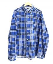 UNUSED(アンユーズド)の古着「チェックシャツ」|ブルー