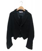 COMME des GARCONS COMME des GARCONS(コムデギャルソンコムデギャルソン)の古着「ウールジャケット」|ブラック