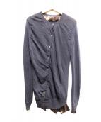 sacai(サカイ)の古着「デザインレイヤードカーディガン」|グレー