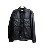 COACH(コーチ)の古着「レザージャケット」|ブラック