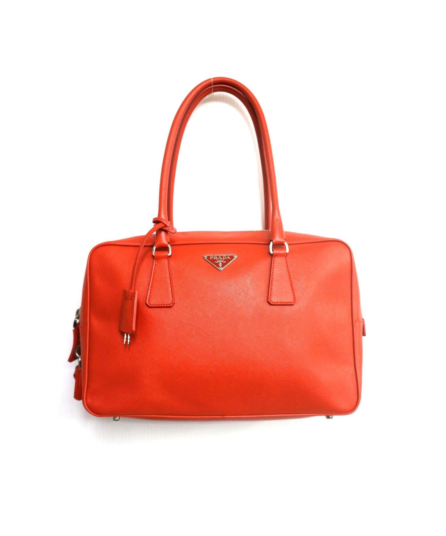 30f0ab1f1170 PRADA (プラダ) サフィアーノハンドバッグ オレンジ サイズ:表記なし BL0095. PRADA