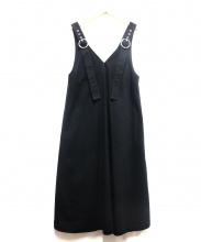 G.V.G.V(ジーヴィージーヴィー)の古着「TWIL LACE UP PINEFORE DRESS」|ブラック