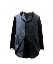 COMME des GARCONS BLACKMARKET(コムデギャルソンブラックマーケット)の古着「左右切り替えジャケット」