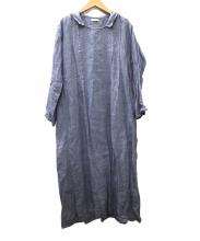 fog linen work(フォグリネンワーク)の古着「リネンワンピー」|ブルー