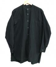 COMOLI(コモリ)の古着「バンドカラーロングシャツ」|ブラック