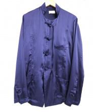 BED J.W FORD(ベッドフォード)の古着「チャイナシャツ」|パープル