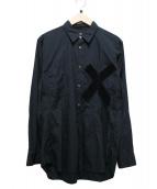 COMME des GARCONS HOMME PLUS(コムデギャルソンオムプリュス)の古着「デザインシャツ」|ブラック