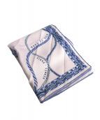 HERMES(エルメス)の古着「シルクスカーフ」|ピンク×ブルー