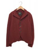Y's(ワイズ)の古着「ボタンウールジャケット」|レッド