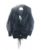 sacai(サカイ)の古着「チュールカーディガン」 ブラック