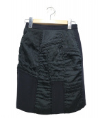 COMME des GARCONS(コムデギャルソン)の古着「パッチワークスカート」|ブラック