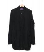 Y's(ワイズ)の古着「ジップカーディガン」|ブラック