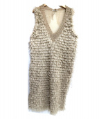 mina perhonen(ミナペルフォネン)の古着「ニットワンピース」|ベージュ