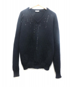 Dior Homme(ディオールオム)の古着「ビーズニット」|ブラック