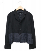 tricot COMME des GARCONS(トリコ コムデギャルソン)の古着「ウールシルクジャケット」|ブラック