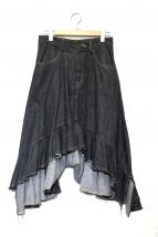 Y's(ワイズ)の古着「フレアデニムスカート」