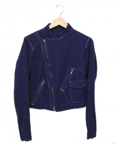 Y's(ワイズ)Y's (ワイズ) ウールジャケット ブルー サイズ:2 YZ-Y07-504の古着・服飾アイテム