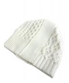Martin Margiela 10(マルタンマルジェラ 10)の古着「ケーブルニット帽」|ホワイト