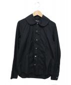 JUNYA WATANABE COMME des GARCONS(ジュンヤワタナベ コムデギャルソン)の古着「ラウンドカラーシャツ」|ブラック