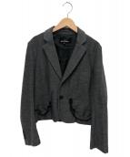 tricot COMME des GARCONS(トリコ コムデギャルソン)の古着「ショートテーラードジャケット」|グレー