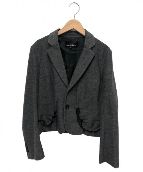 tricot COMME des GARCONS(トリココムデギャルソン)tricot COMME des GARCONS (トリコ コム デ ギャルソン) ショートテーラードジャケット グレー サイズ:S TS-J007 2007SSの古着・服飾アイテム