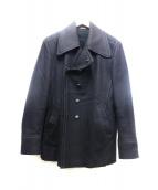 Maison Martin Margiela 14(メゾン マルタン マルジェラ)の古着「デザインハーフコート」 ブラック