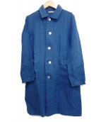 fog linen work(フォグリネンワーク)の古着「リネンショップコート」|ネイビー