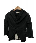 COMME des GARCONS COMME des GARCONS(コムデギャルソンコムデギャルソン)の古着「レイヤードデザインジャケット」|ブラック