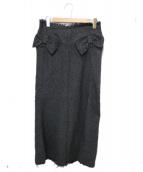 JUNYA WATANABE COMME des GARCONS MAN(ジュンヤワタナベ コムデギャルソン マン)の古着「ウールボーダーロングスカート」|グレー