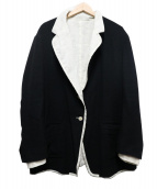 Ys(ワイズ)の古着「リネンウールリバーシブルジャケット」|ブラック